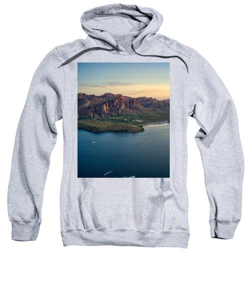 Saguaro Lake Mountain Sunset Sweatshirt