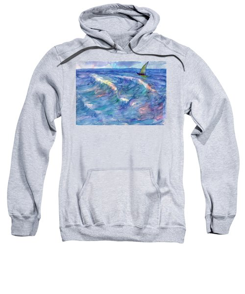 Sailboat In The Sea Sweatshirt