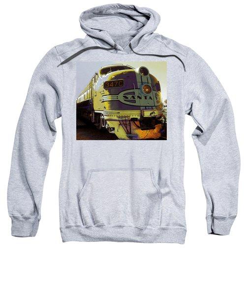 Santa Fe Railroad 347c - Digital Artwork Sweatshirt