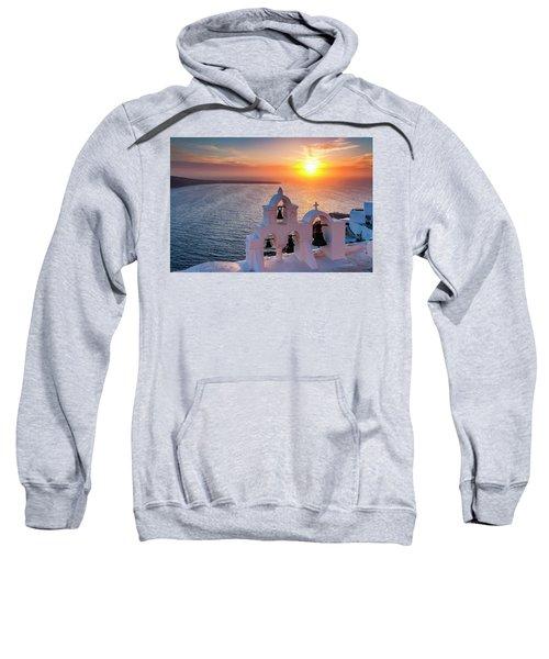 Sweatshirt featuring the photograph Santorini Sunset by Evgeni Dinev