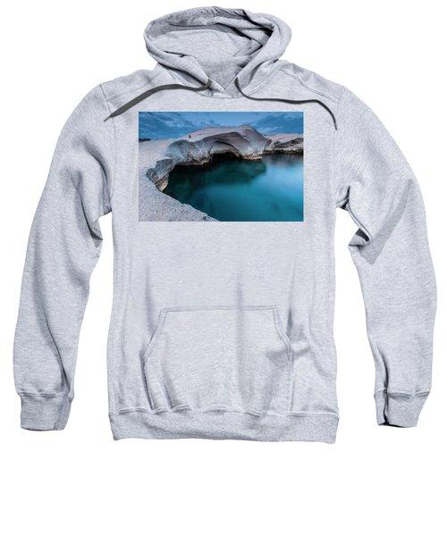 Sweatshirt featuring the photograph Sarakiniko by Evgeni Dinev