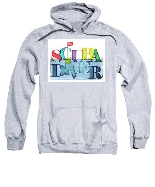 Scuba Diver Colorful Sweatshirt