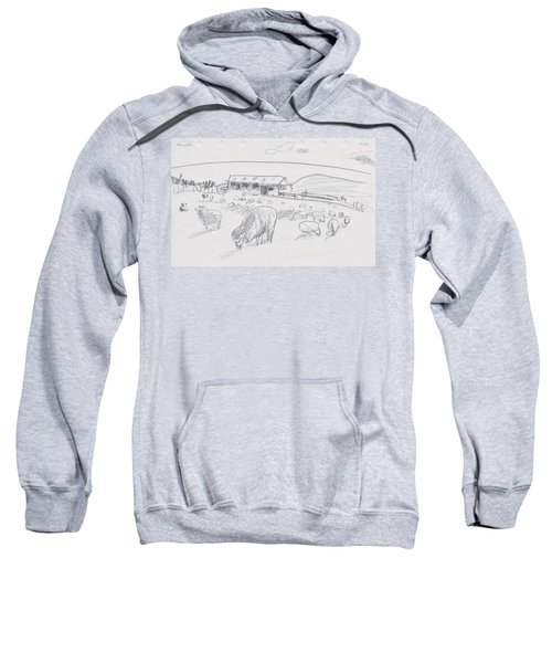 Sheep On Chatham Island, New Zealand Sweatshirt
