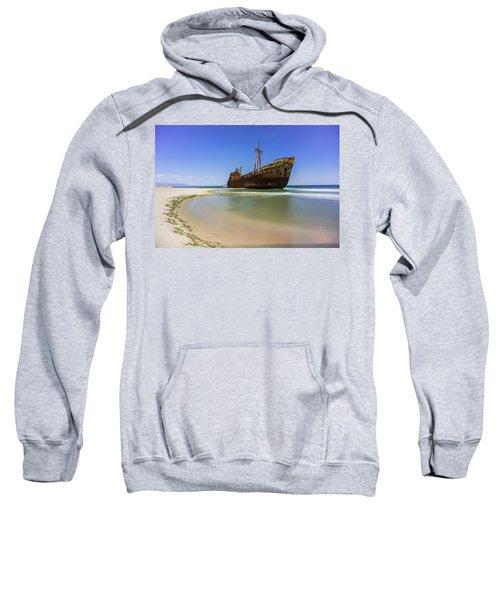 Shipwreck Dimitros Near Gythio, Greece Sweatshirt