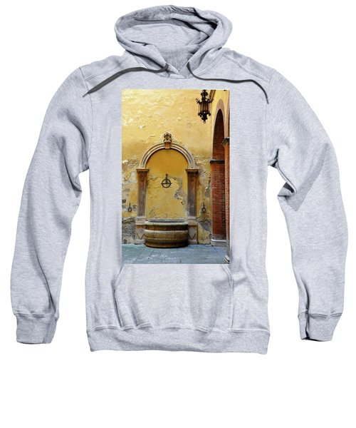 Sienna Fountain Courtyard Sweatshirt