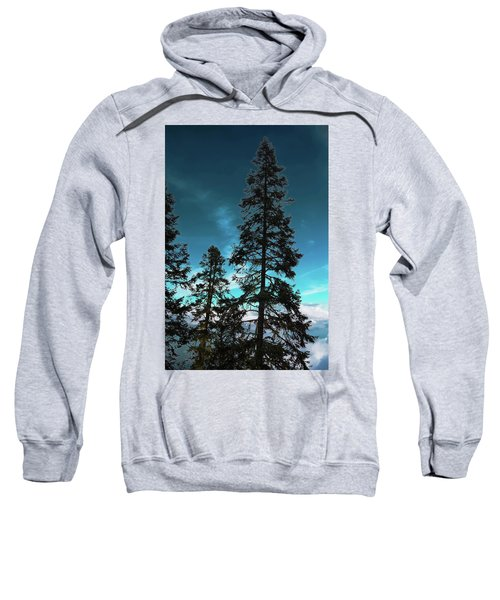 Silhouette Of Tall Conifers In Autumn Sweatshirt