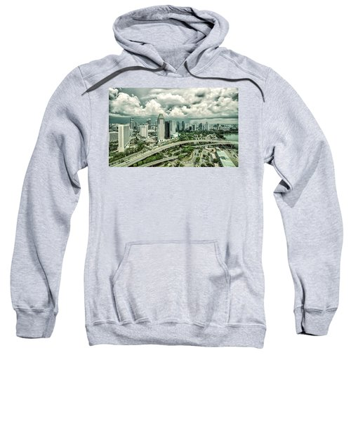 Sweatshirt featuring the photograph Singapore by Chris Cousins