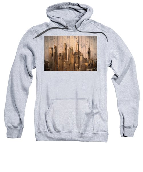 Skyline Of Dubai, Uae On Wood Sweatshirt