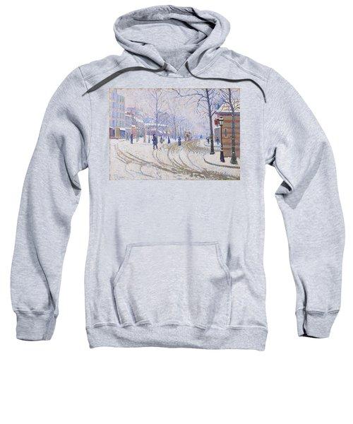 Snow, Boulevard De Clichy, Paris - Digital Remastered Edition Sweatshirt