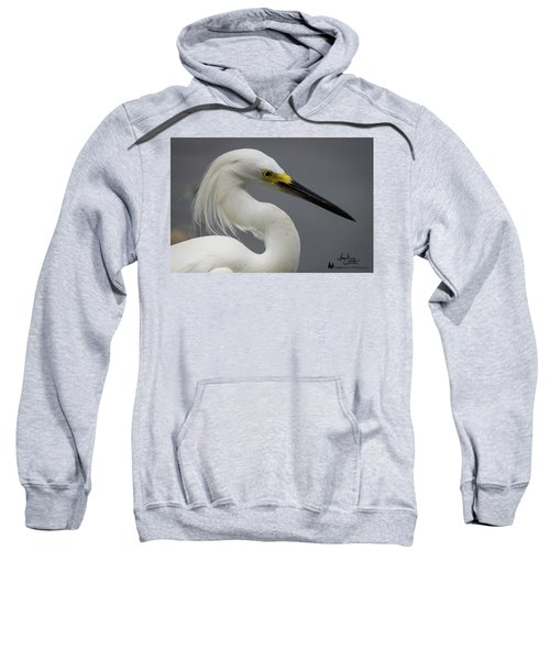 Snow Egret Portrait Sweatshirt