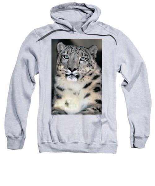 Snow Leopard Portrait Endangered Species Wildlife Rescue Sweatshirt