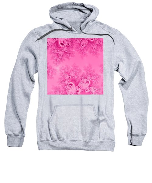 Soft Pink Frost Of Morning Fractal Abstract Sweatshirt