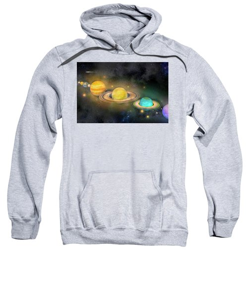 Solar System And Moons Sweatshirt
