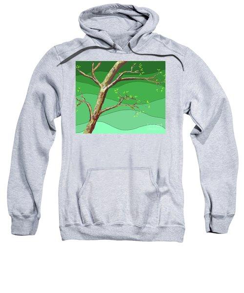 Spring Errupts In Green Sweatshirt
