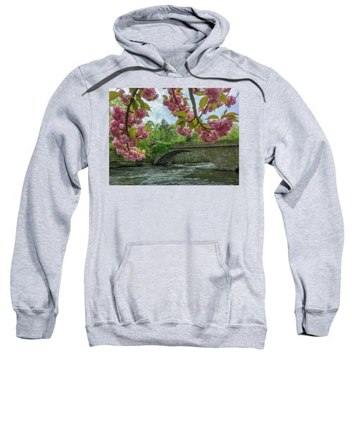 Spring Garden On The Bridge  Sweatshirt