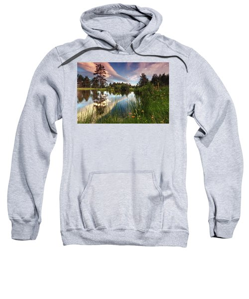 Sweatshirt featuring the photograph Spring Lake by Evgeni Dinev
