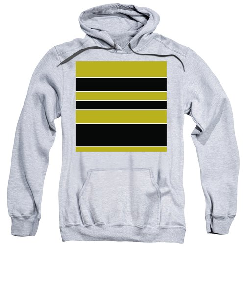 Stacked - Gold, Black And White Sweatshirt