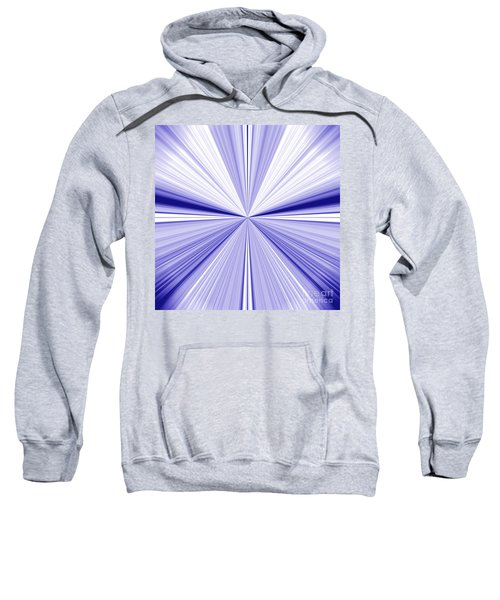 Starburst Light Beams In Blue And White Abstract Design - Plb455 Sweatshirt