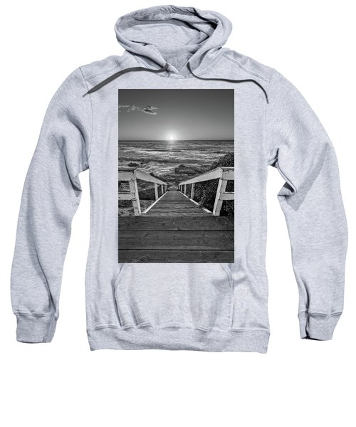 Steps To The Sun  Black And White Sweatshirt