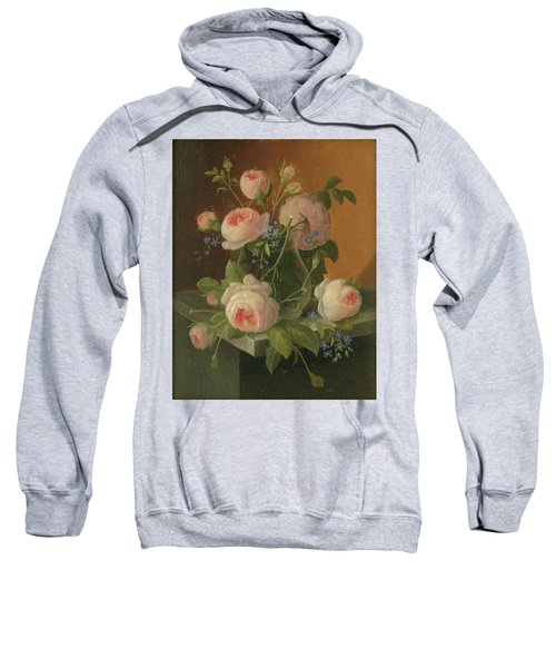 Still Life With Roses, Circa 1860 Sweatshirt