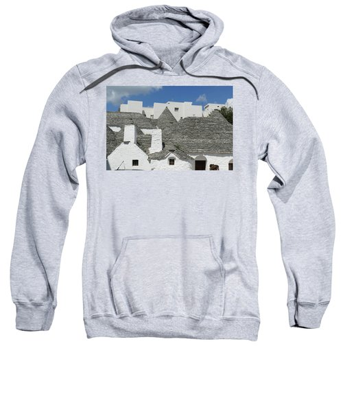Stone Coned Rooves Of Trulli Houses Sweatshirt