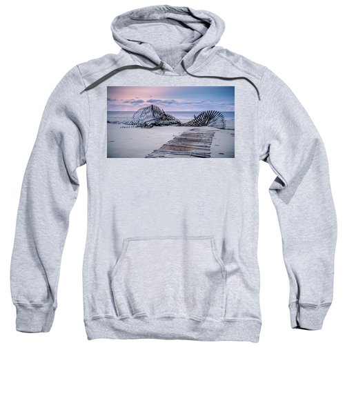 Storm Fence Sunrise Sweatshirt