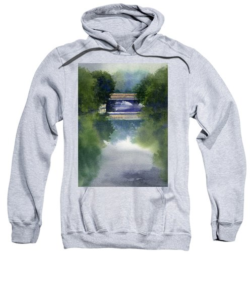 Stormy Day On Bridge Road Sweatshirt