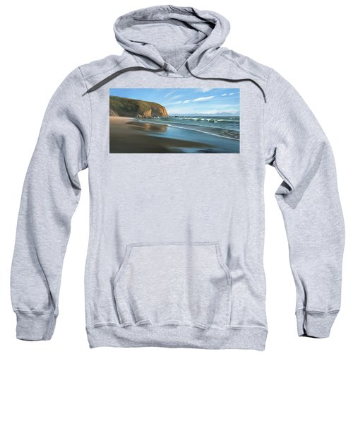 Strands Beach Dana Point Oil Painting Sweatshirt
