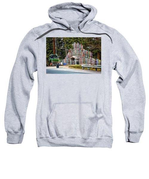 Structure Of Skis Sweatshirt