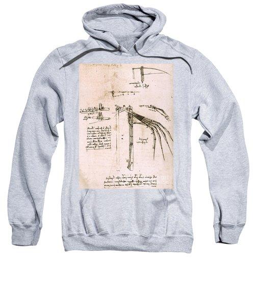Study On Wings, Codex Atlantic Sweatshirt