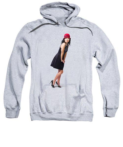 Stylish 1960s Fashion Pinup Woman Sweatshirt