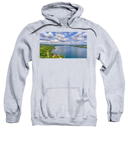 Summer Clouds On Keuka Lake Sweatshirt