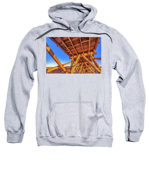 Sunrise Under The Sea Cabin Pier  Sweatshirt