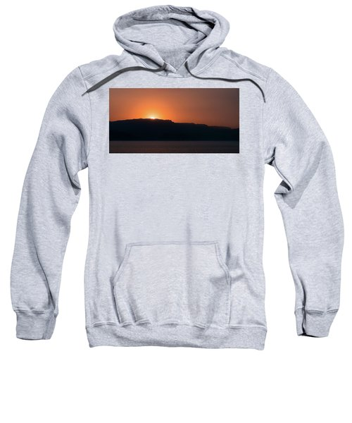 Sunset At Over The Mountains In The Red Sea Sweatshirt