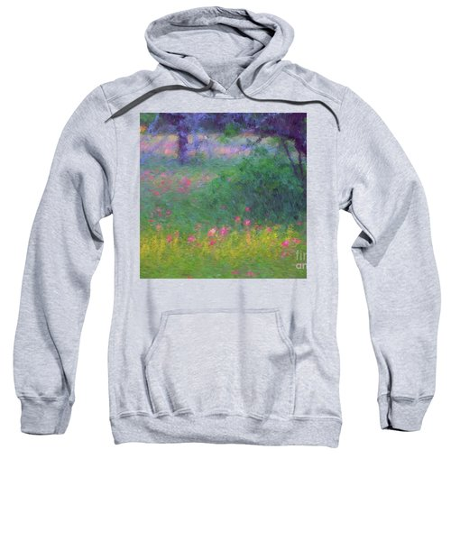 Sunset In Flower Meadow Sweatshirt