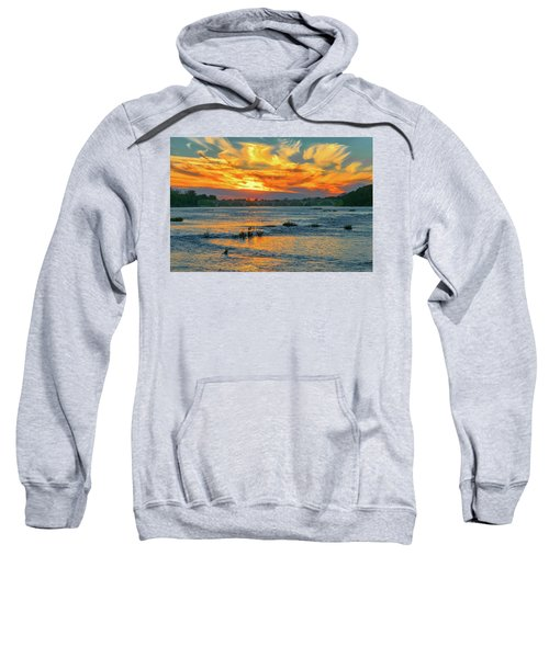 Sunset On The River  Sweatshirt