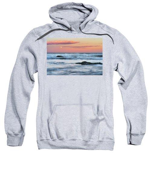 Super Moon And Sunset At Sozopol Town Beach Sweatshirt