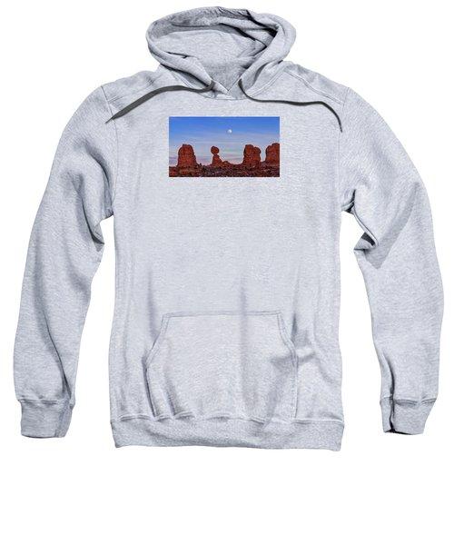 Super Moonrise At Balanced Rock Sweatshirt
