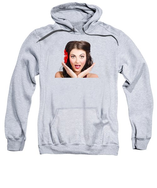 Surprised Vintage Woman Sweatshirt