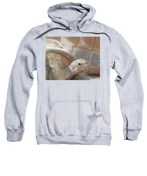 Sweatshirt featuring the digital art Sweet Tortoise by Fe Jones