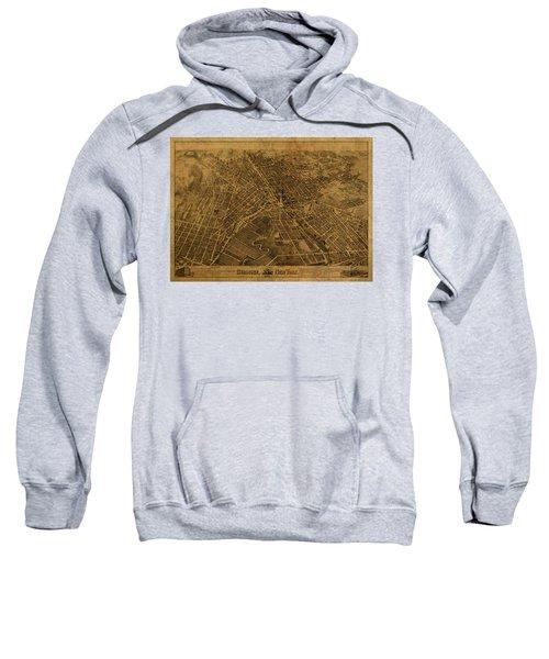 Syracuse New York City Street Map Vintage 1874 Sweatshirt