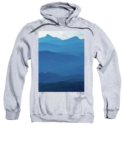 Table Rock And Hawksbill  Mountain - Linville North Carolina - Blue Ridge Parkway Sweatshirt