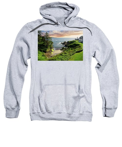 Tall Conifer Above Protected Small Cov Sweatshirt