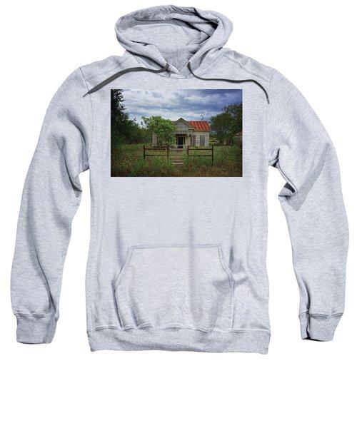 Texas Farmhouse In Storm Clouds Sweatshirt