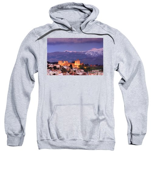 The Alhambra, Albaicin. Spring After The Snow Sweatshirt