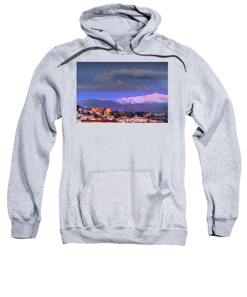 The Alhambra, Albaicin. Spring Time Sweatshirt
