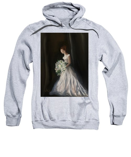 Sweatshirt featuring the painting The Big Day by Fe Jones