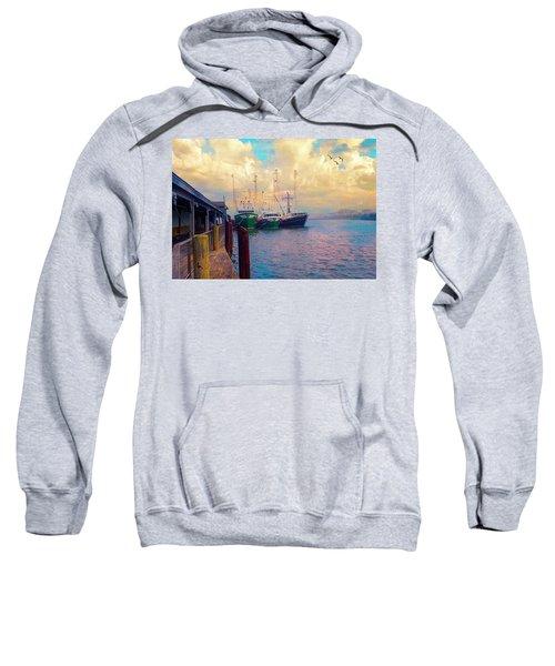 The Docks At Cape May Sweatshirt