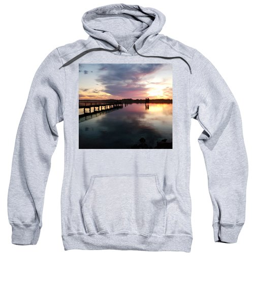 The Hollering Place Pier At Sunset Sweatshirt