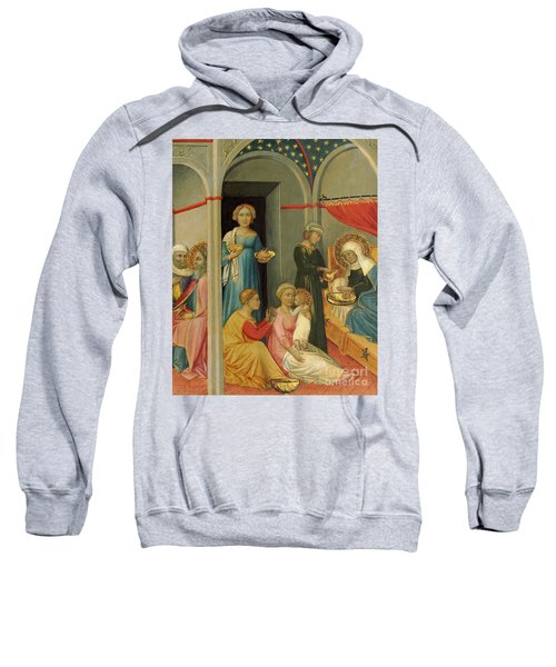 The Nativity Of The Virgin By  Andrea Di Bartolo Sweatshirt